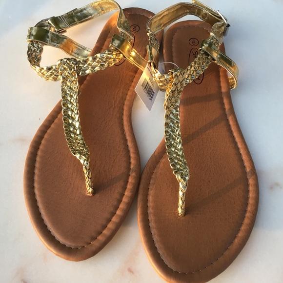 e050c8a23 Gold 💫Braided Sandals NWT